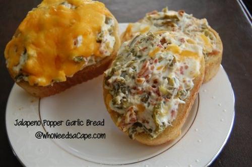 Jalapeno Popper Garlic Bread