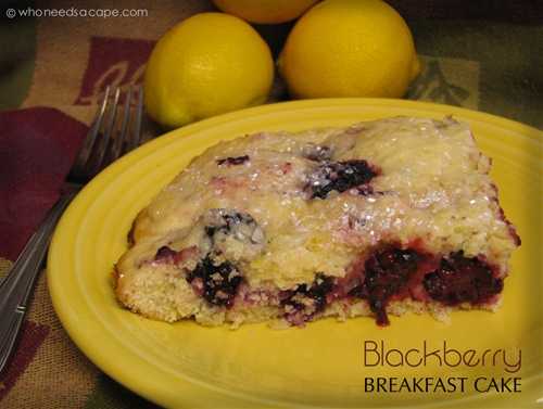 Blackberry Breakfast Cake