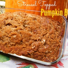 Streusel Topped Pumpkin Bread