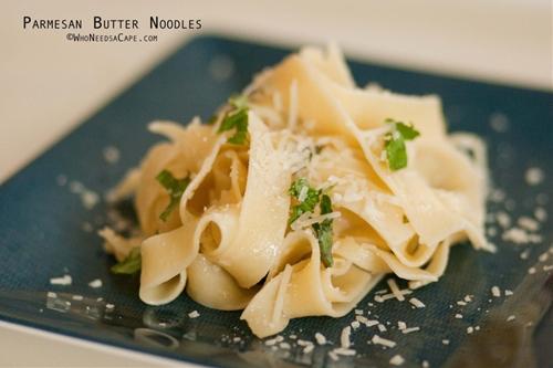 Parmesan Butter Egg Noodles