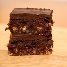 Cranberry & Cherry Chocolate Tiffin