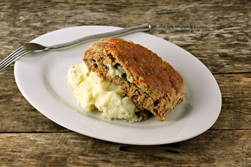 Spinach & Fontina Stuffed Turkey Meatloaf