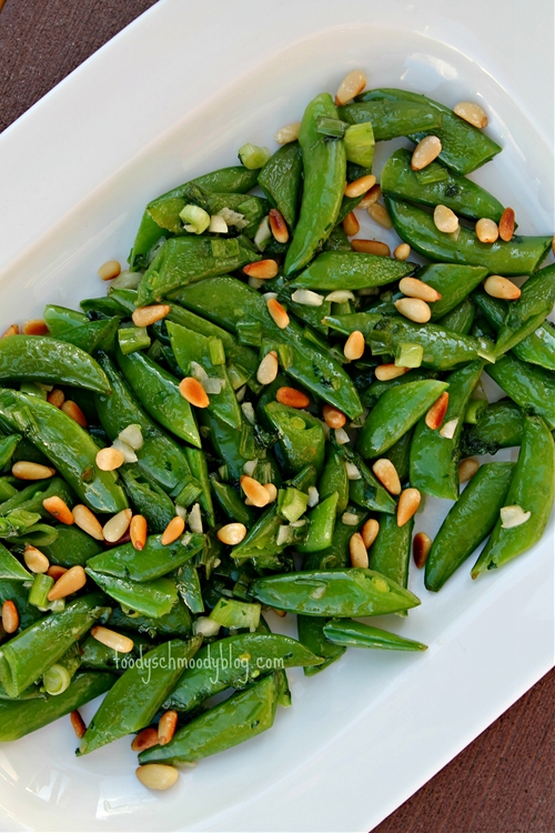 Warm Snap Pea Salad