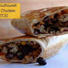 Crispy Southwest Chicken Burritos