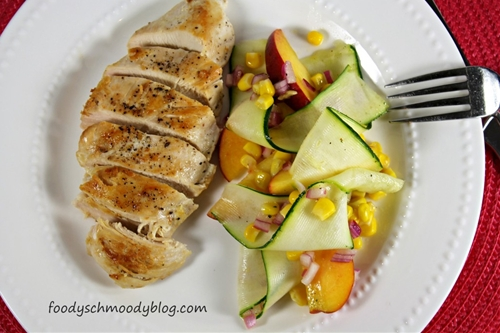 Peach and Zucchini Salad