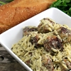 Chicken Pesto Meatballs and Orzo