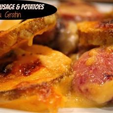Smoked Sausage & Potatoes Au Gratin