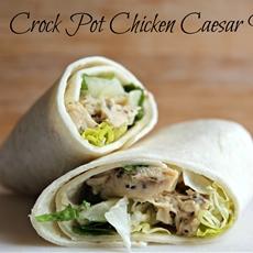 Crock Pot Chicken Caesar Wraps