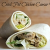 Crock Pot Chicken Caesar Wraps