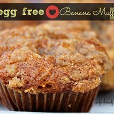 Allergy Friendly Banana Muffins w/ Crunchy Brown Sugar