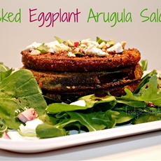 Stacked Eggplant Arugula Salad - Foody Schmoody Blog | Foody Schmoody