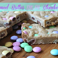 Browned Butter M&M Blondies