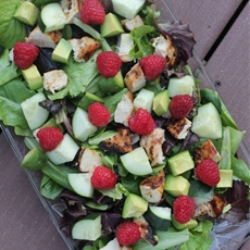 Grilled Chicken and Raspberry Spring Salad