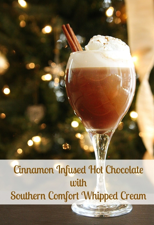 Cinnamon Infused Hot Chocolate w/ Southern Comfort