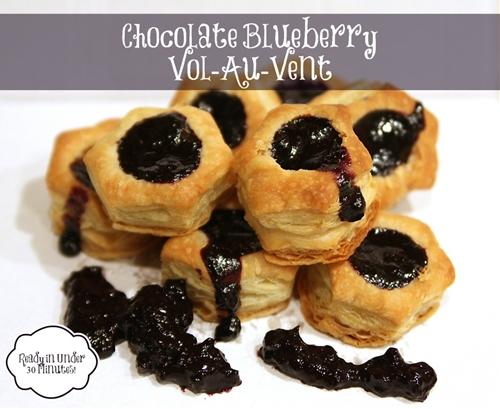 Chocolate Blueberry Vol-au-vent