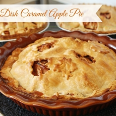 Deep Dish Caramel Apple Pie