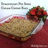 Strawberry Pie Sour Cream Crumb Bars
