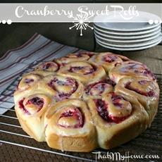 Cranberry Sweet Rolls