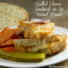 Grilled Cheese Sandwich on No Knead Bread