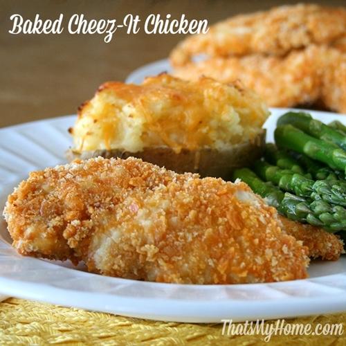 Baked Cheez-It Chicken