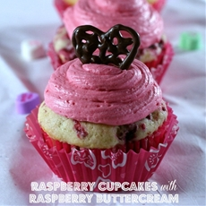 Raspberry Cupcakes with Raspberry Buttercream