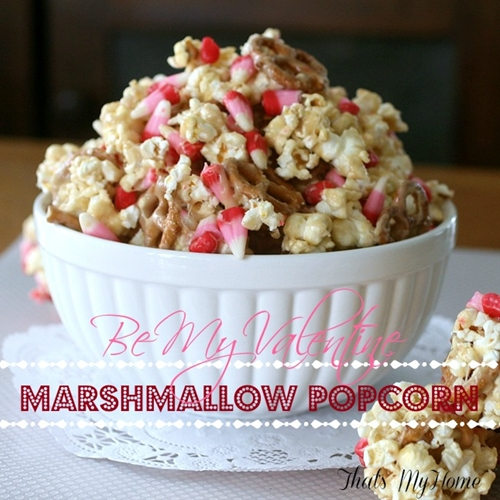 Valentines Marshmallow Popcorn