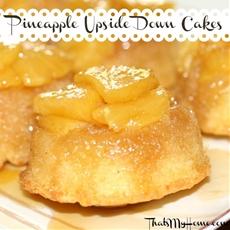 Pineapple Upside Down Cake with Fresh Pineapple