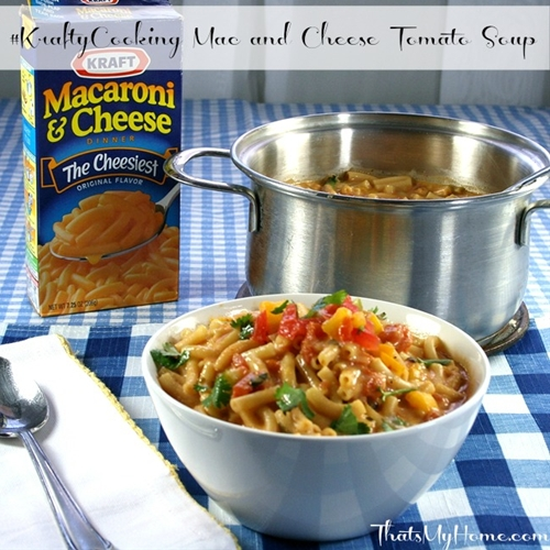 Mac and Cheese Tomato Soup #KraftyCooking