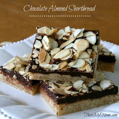 Chocolate Almond Shortbread