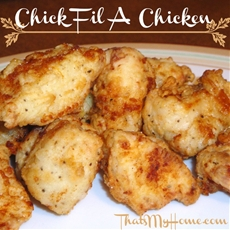 Almost Chick fil a Chicken Nuggets