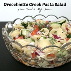 Orecchiette Greek Pasta Salad