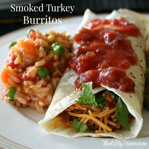 Smoked Turkey Burritos