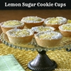 Lemon Sugar Cookie Cups
