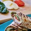 Griddled Caprese Antipasti Wrap with Rocket Pistachio Pesto