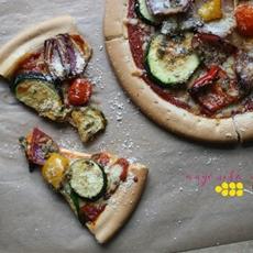 Best Ever Gluten Free Veggie Supreme Pizza