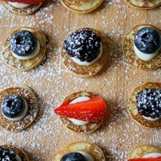 Gluten Free Mini 4th July Pancakes