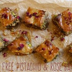 Gluten Free Pistachio & Rose Baklava