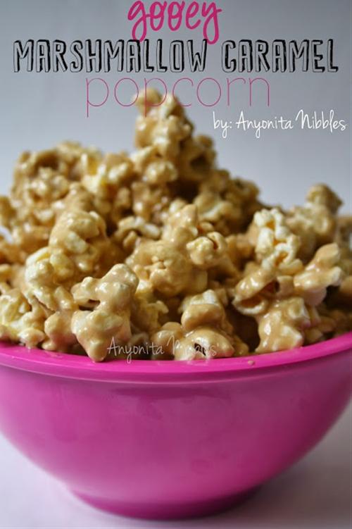 Gooey Marshmallow Caramel Popcorn Recipe | Anyonita Nibbles
