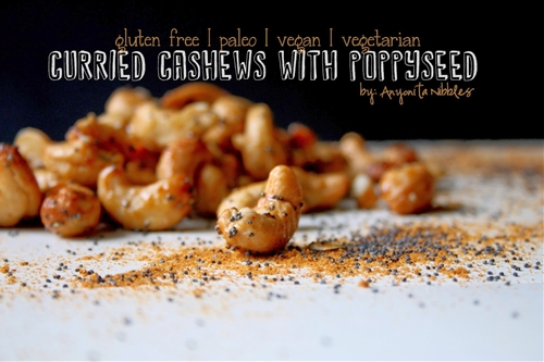 Gluten Free Curried Cashews with Poppyseed