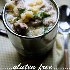 Gluten Free Sausage & Spinach Soup