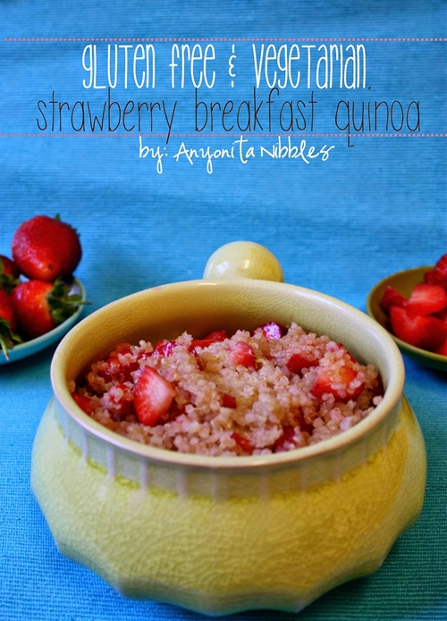 Gluten Free & Vegetarian Strawberry Breakfast Quinoa