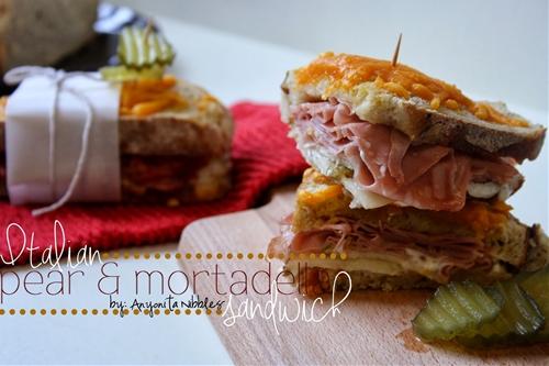 Italian Pear & Mortadella Oven Sandwiches