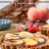 Gluten Free Brûléed Peach & Nutella Tarts