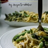 Kale & Wild Mushroom Vegetarian Spaghetti Carbonara #shortcuteggsperts