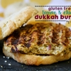 Vegetarian Lemon & Chickpea Dukkah Burgers on Gluten Free Buns