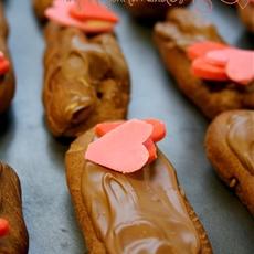 Triple Chocolate Eclairs Recipe for Valentine