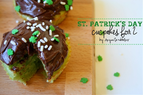 Easy St Patricks Day Cupcakes for Two