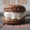 Chocolate Macaron Ice Cream Sandwiches
