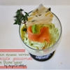 Verrine of Smoked Salmon Mousse with Avocado Guacamole