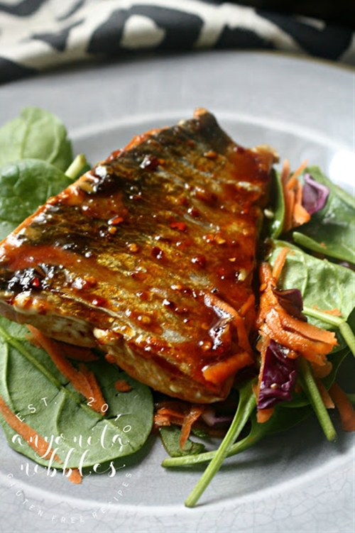 Gluten Free Honey Lime Wild Salmon Salad